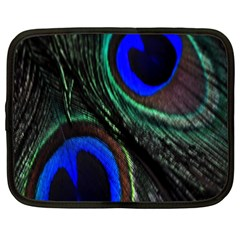 Peacock Feather Netbook Case (xxl)  by Simbadda
