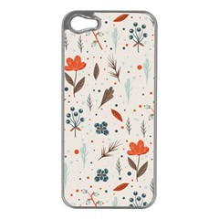 Seamless Floral Patterns  Apple Iphone 5 Case (silver) by TastefulDesigns