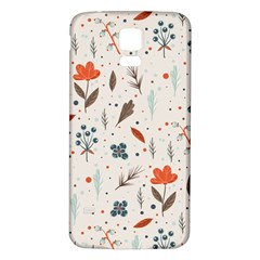 Seamless Floral Patterns  Samsung Galaxy S5 Back Case (white) by TastefulDesigns
