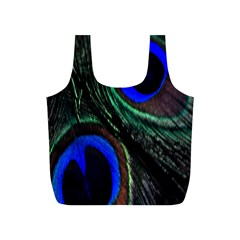 Peacock Feather Full Print Recycle Bags (s)