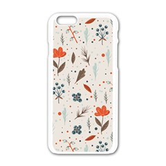 Seamless Floral Patterns  Apple Iphone 6/6s White Enamel Case by TastefulDesigns