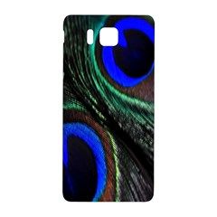 Peacock Feather Samsung Galaxy Alpha Hardshell Back Case by Simbadda