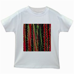 Alien Animal Skin Pattern Kids White T Shirts
