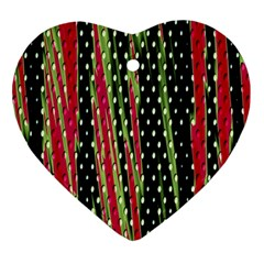 Alien Animal Skin Pattern Heart Ornament (two Sides) by Simbadda