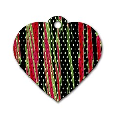 Alien Animal Skin Pattern Dog Tag Heart (one Side) by Simbadda