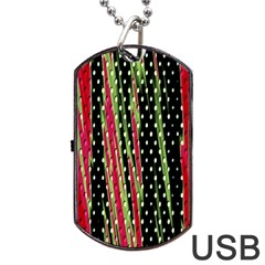 Alien Animal Skin Pattern Dog Tag Usb Flash (two Sides) by Simbadda