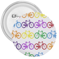 Rainbow Colors Bright Colorful Bicycles Wallpaper Background 3  Buttons by Simbadda