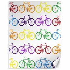 Rainbow Colors Bright Colorful Bicycles Wallpaper Background Canvas 12  X 16   by Simbadda
