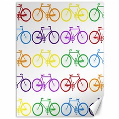 Rainbow Colors Bright Colorful Bicycles Wallpaper Background Canvas 36  X 48   by Simbadda