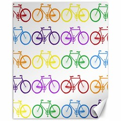 Rainbow Colors Bright Colorful Bicycles Wallpaper Background Canvas 11  X 14   by Simbadda
