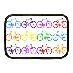 Rainbow Colors Bright Colorful Bicycles Wallpaper Background Netbook Case (medium)  by Simbadda