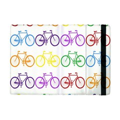Rainbow Colors Bright Colorful Bicycles Wallpaper Background Apple Ipad Mini Flip Case