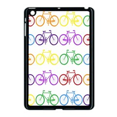 Rainbow Colors Bright Colorful Bicycles Wallpaper Background Apple Ipad Mini Case (black) by Simbadda