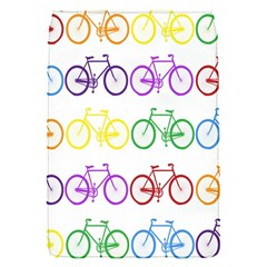 Rainbow Colors Bright Colorful Bicycles Wallpaper Background Flap Covers (s)  by Simbadda