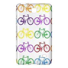 Rainbow Colors Bright Colorful Bicycles Wallpaper Background Samsung Galaxy Tab 4 (8 ) Hardshell Case  by Simbadda