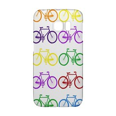 Rainbow Colors Bright Colorful Bicycles Wallpaper Background Galaxy S6 Edge by Simbadda