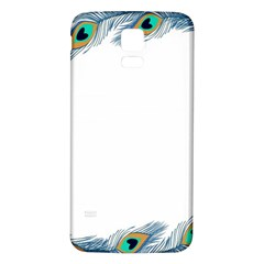 Beautiful Frame Made Up Of Blue Peacock Feathers Samsung Galaxy S5 Back Case (white)