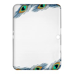 Beautiful Frame Made Up Of Blue Peacock Feathers Samsung Galaxy Tab 4 (10 1 ) Hardshell Case  by Simbadda
