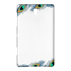 Beautiful Frame Made Up Of Blue Peacock Feathers Samsung Galaxy Tab S (8 4 ) Hardshell Case  by Simbadda