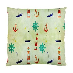 Vintage Seamless Nautical Wallpaper Pattern Standard Cushion Case (two Sides) by Simbadda