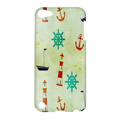 Vintage Seamless Nautical Wallpaper Pattern Apple Ipod Touch 5 Hardshell Case by Simbadda