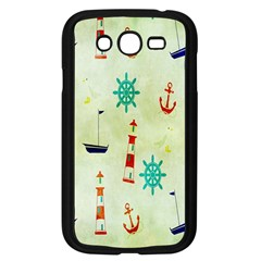 Vintage Seamless Nautical Wallpaper Pattern Samsung Galaxy Grand Duos I9082 Case (black) by Simbadda
