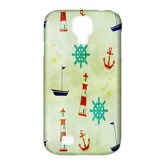 Vintage Seamless Nautical Wallpaper Pattern Samsung Galaxy S4 Classic Hardshell Case (pc+silicone) by Simbadda