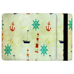 Vintage Seamless Nautical Wallpaper Pattern Ipad Air 2 Flip