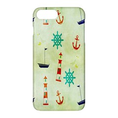 Vintage Seamless Nautical Wallpaper Pattern Apple Iphone 7 Plus Hardshell Case