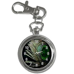 Feather Peacock Drops Green Key Chain Watches by Simbadda