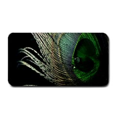 Feather Peacock Drops Green Medium Bar Mats by Simbadda