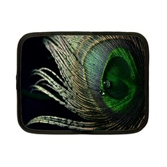 Feather Peacock Drops Green Netbook Case (small)  by Simbadda