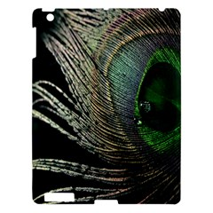 Feather Peacock Drops Green Apple Ipad 3/4 Hardshell Case