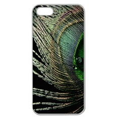 Feather Peacock Drops Green Apple Seamless Iphone 5 Case (clear)