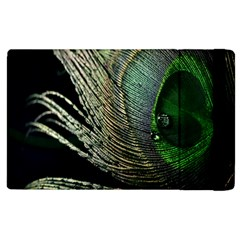 Feather Peacock Drops Green Apple Ipad 2 Flip Case