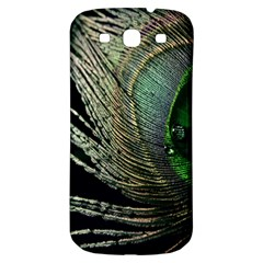 Feather Peacock Drops Green Samsung Galaxy S3 S Iii Classic Hardshell Back Case by Simbadda