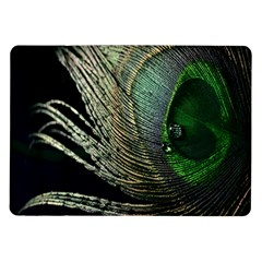 Feather Peacock Drops Green Samsung Galaxy Tab 10 1  P7500 Flip Case