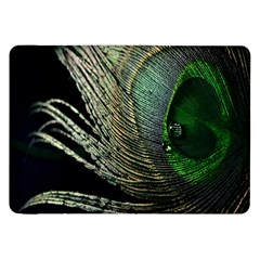 Feather Peacock Drops Green Samsung Galaxy Tab 8 9  P7300 Flip Case