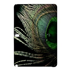 Feather Peacock Drops Green Samsung Galaxy Tab Pro 10 1 Hardshell Case by Simbadda