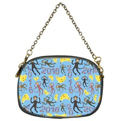 Cute Monkeys Seamless Pattern Chain Purses (one Side)  by Simbadda