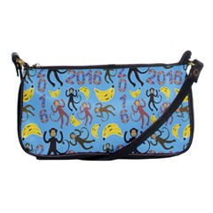 Cute Monkeys Seamless Pattern Shoulder Clutch Bags by Simbadda