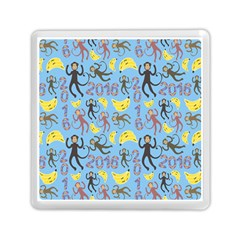 Cute Monkeys Seamless Pattern Memory Card Reader (square)  by Simbadda