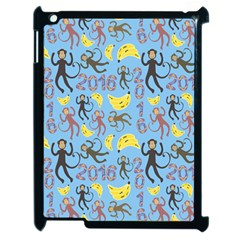 Cute Monkeys Seamless Pattern Apple Ipad 2 Case (black) by Simbadda