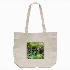 Digitally Painted Abstract Style Watercolour Painting Of A Peacock Tote Bag (cream) by Simbadda