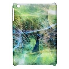 Digitally Painted Abstract Style Watercolour Painting Of A Peacock Apple Ipad Mini Hardshell Case