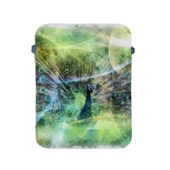 Digitally Painted Abstract Style Watercolour Painting Of A Peacock Apple Ipad 2/3/4 Protective Soft Cases by Simbadda