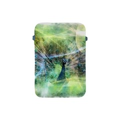 Digitally Painted Abstract Style Watercolour Painting Of A Peacock Apple Ipad Mini Protective Soft Cases by Simbadda