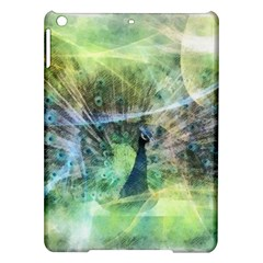 Digitally Painted Abstract Style Watercolour Painting Of A Peacock Ipad Air Hardshell Cases