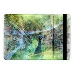 Digitally Painted Abstract Style Watercolour Painting Of A Peacock Samsung Galaxy Tab Pro 10 1  Flip Case by Simbadda