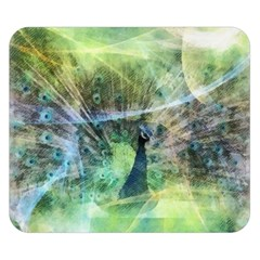 Digitally Painted Abstract Style Watercolour Painting Of A Peacock Double Sided Flano Blanket (small)  by Simbadda